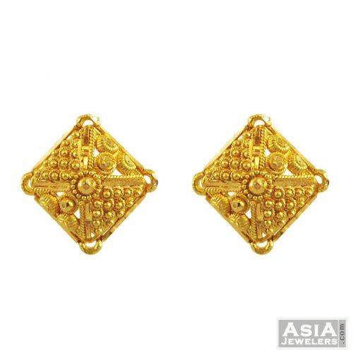 22k Gold Square Design Tops Ajer55611 22k Gold Nice