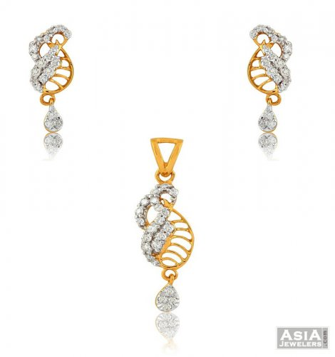 Fancy small diamond pendant set ajdi55523 us 1680 18k fancy fancy small diamond pendant set aloadofball Image collections