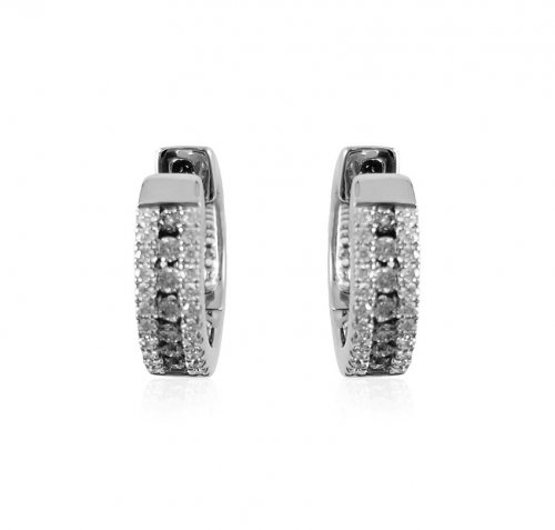 18K White Gold Diamond clipons
