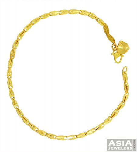 22K Gold Fancy Ladies Bracelet