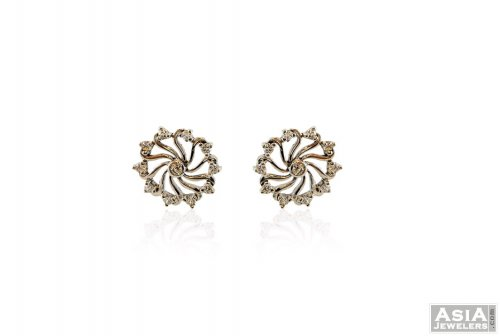 Fancy White Gold 18K Earring
