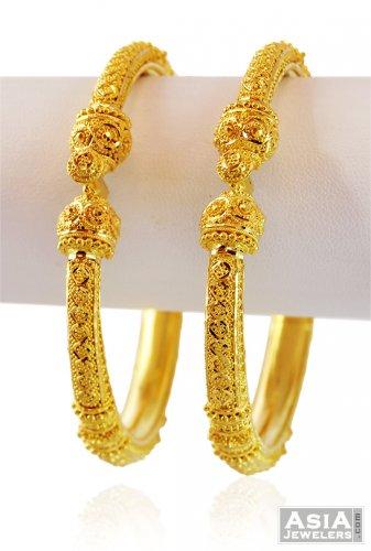 22k Designer Filigree Pipe Kada 1 Pc Only Ajba59170 22k Gold