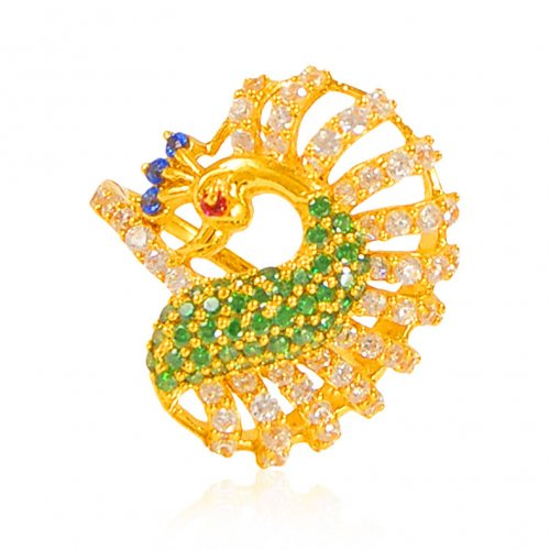 22k Gold Traditional Peacock Ring