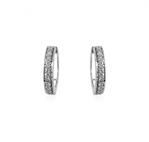 18Kt White Gold Diamond clipons