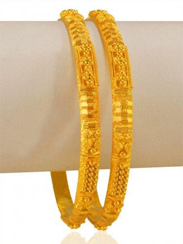 bd393e182 22k Gold Bangles (2 PC) - AjBa64926 - US$ 1,534 - 22KT Gold Bangles ...