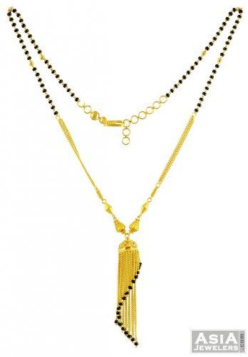22k mangalsutra chain   ajch57638   22 karat gold