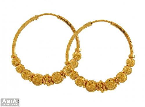 22k Gold Bali Earrings