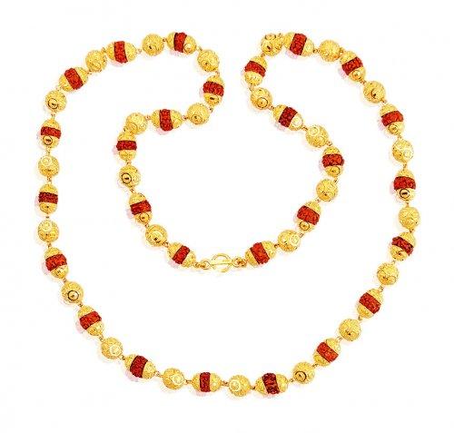 rudraksh mala 22k gold asch60962 us 3359 22k gold