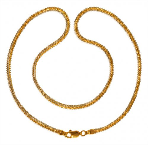 22 Karat Gold Two Tone Chain