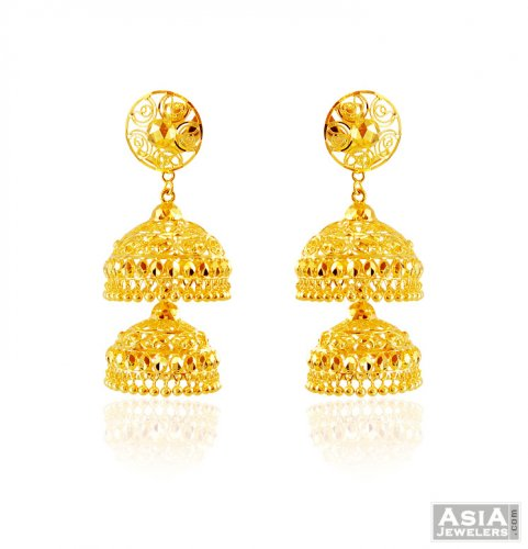 nepal thumbnail jhumkas beautiful collection latest gold earrings from