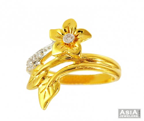 Fancy Floral Shaped Gold Ring 22k ajri 22k Gold Fancy