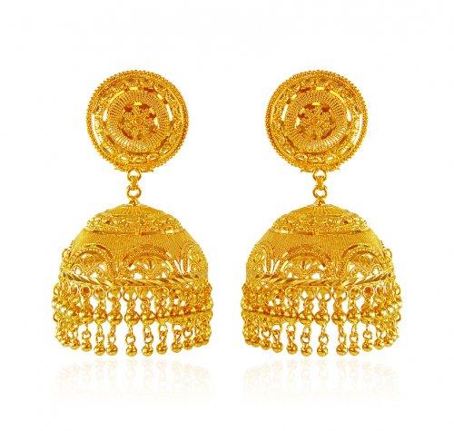 22k gold jhumka ajer62767 22k gold indian design