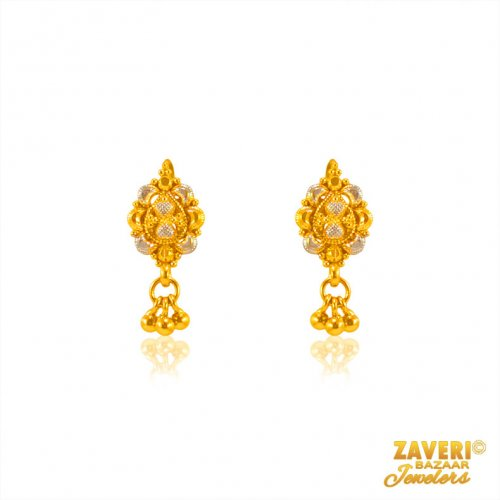 Fancy Indian 22 Kt Earrings