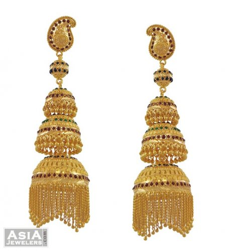 22K Exclusive Jhoomka Earrings AjEr53521 22K Gold Exclusive