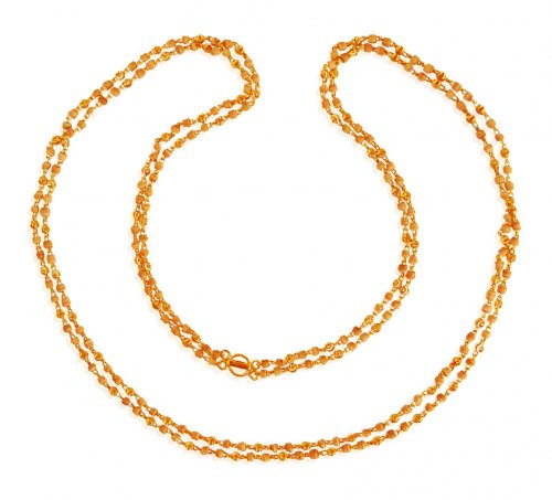 22K Ladies Long White Tulsi Chain
