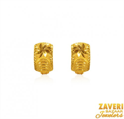 22Kt Gold Clip On Earrings