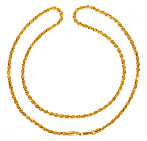 22kt Gold Fancy Rope Chain (20 Inc)