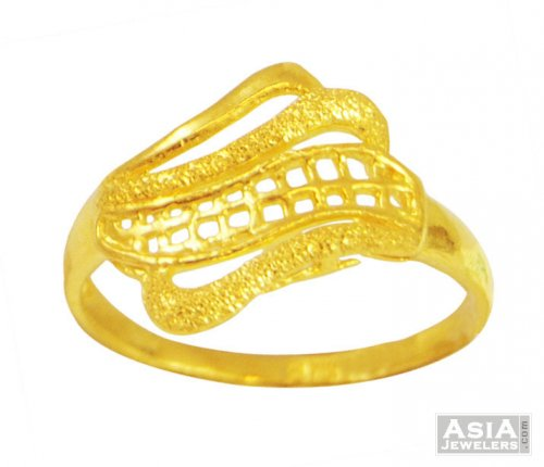 La s Fancy Gold Ring 22k AjRi 22K gold ring with