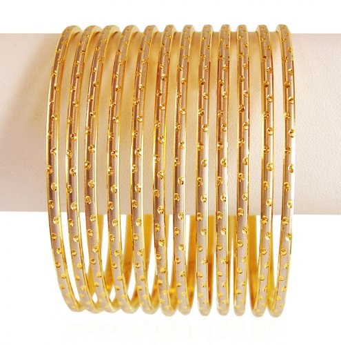Gold Two Tone Bangles (6PCs)