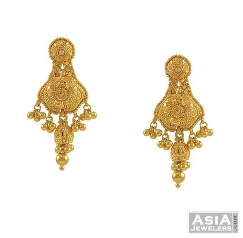 Amazing Earrings  AjEr52950  Beautifully Hand Crafted 22k Gold Earring