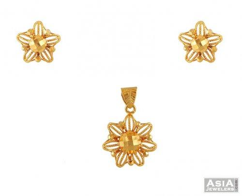 22kt gold pendant set ajps51570 22kt gold solid pendant and 22kt gold pendant set aloadofball Images