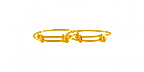 22 kt Gold Kids Bangles (2PC)