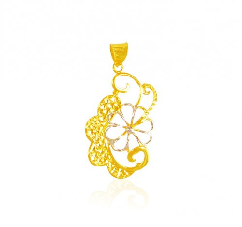 22 Karat Gold Two Tone Pendant