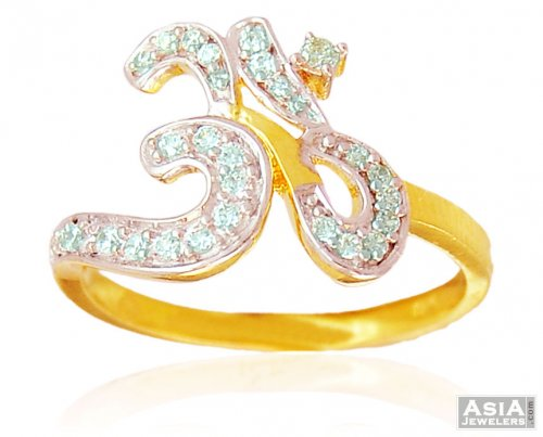 22K Ladies Ring with OM
