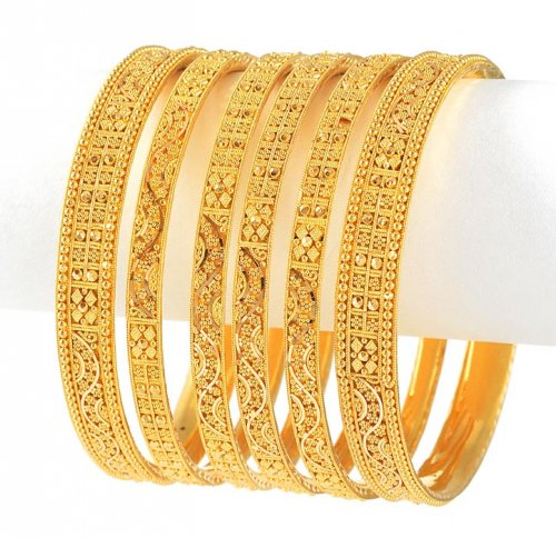 Gold Bangle Set Of 4