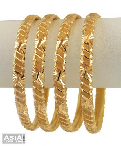 21K Gold Bangles 2 Pcs AsBa54740 21K Gold Bangles set 2 pcs