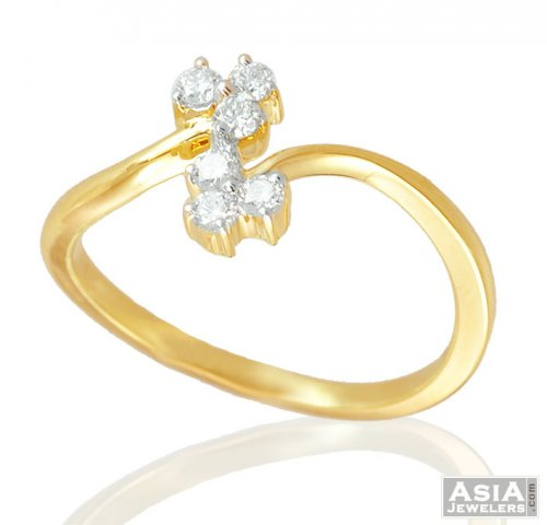 Diamond Studded 18k Gold Ring AjDr 18k Yellow Gold La s