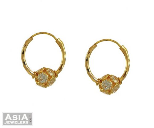 22kt Gold Hoops Small