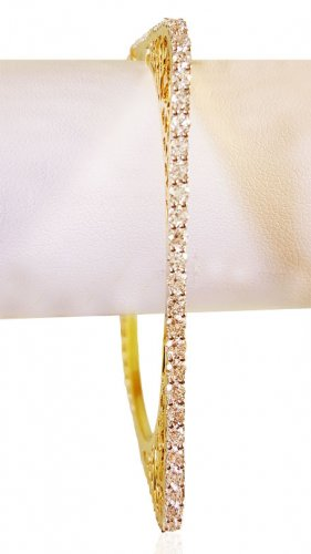 18K Designer Solitaire Bangle