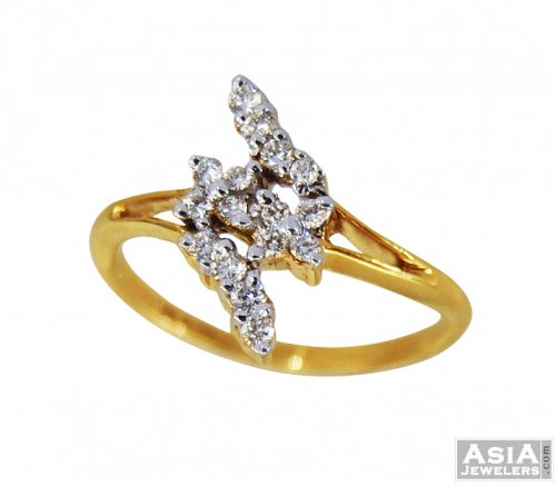Diamond Ring Fancy 18K AjDr 18 karat Yellow Gold Diamond Ring Diamon