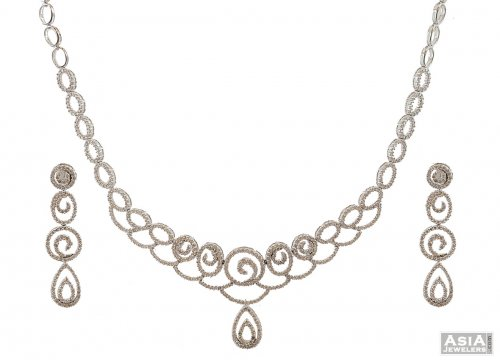 Contemporary White Gold Diamond Set