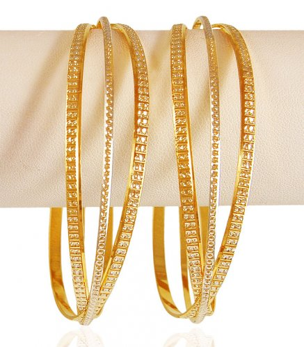 22kt Gold Rhodium Bangle (set of 2)