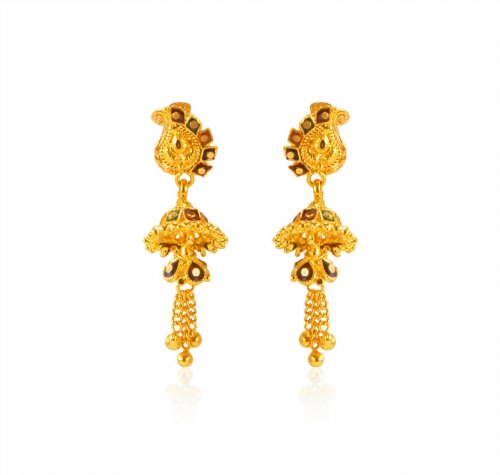 22K Gold Small Jhumkhi Earrings