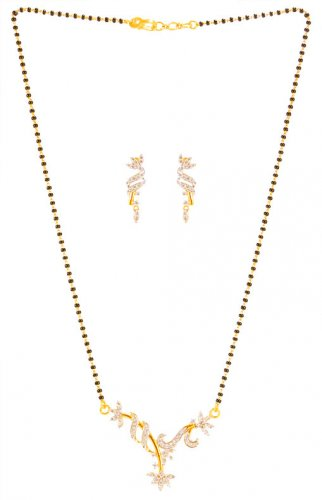 22K Fancy Signity Mangalsutra Set