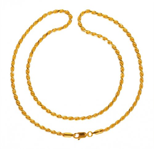 22kt Gold Rope Chain (18 Inches)