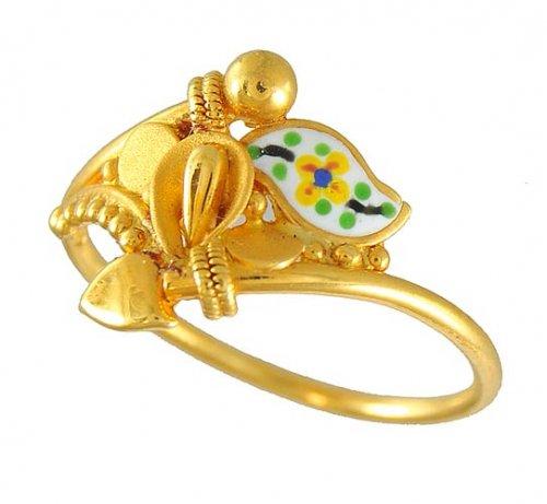 22k gold ring ajri50187 22k gold mat