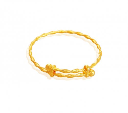 Stylish 22K Gold Bangle for Kids AjBa60215 US 350 22K Gold