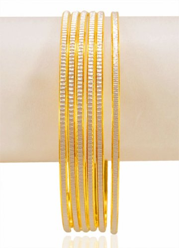 22K Gold Rhodium Bangles