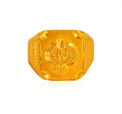 22 Kt Gold Fancy Ek Onkar Ring