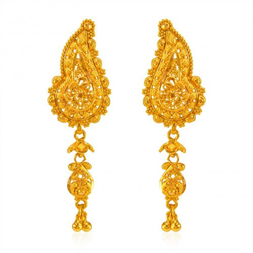 22KT Gold Traditional Earrings