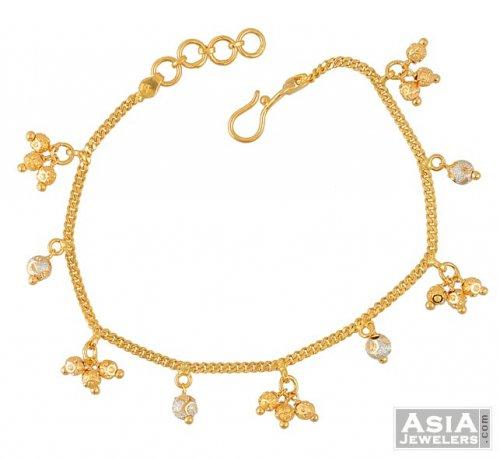 22k Gold ladies bracelet - AsBr52207 - Beautiful 22k gold ...