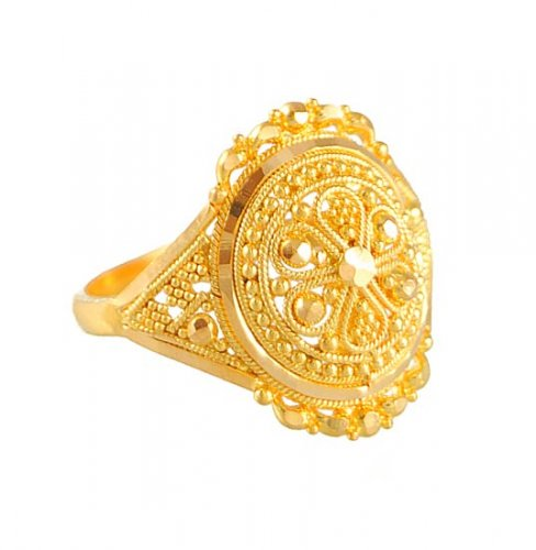 22k ring ajri50694 22k ring with cuts and