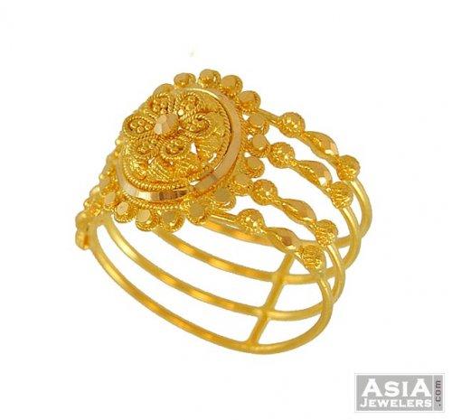 22k Designer Two Tone Ring