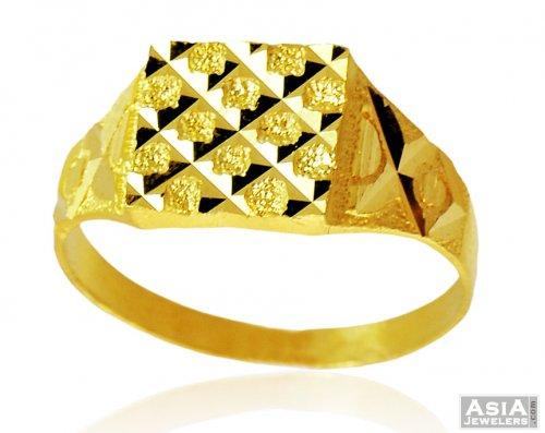 Fancy 22k Gold Men Ring AjRi 22K Gold Ring for men s is