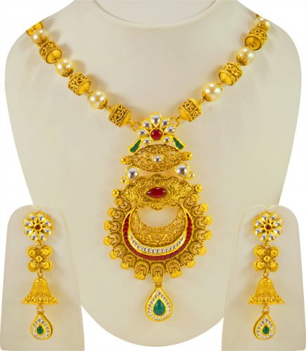 22k Gold Antique Necklace Set