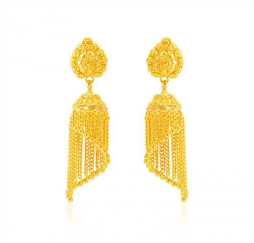 22k Yellow Gold Traditional Earring